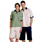 S341 Adults Unisex Woven Polo Short Sleeve