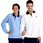 S747 Adults Unisex Woven Polo Long Sleeve